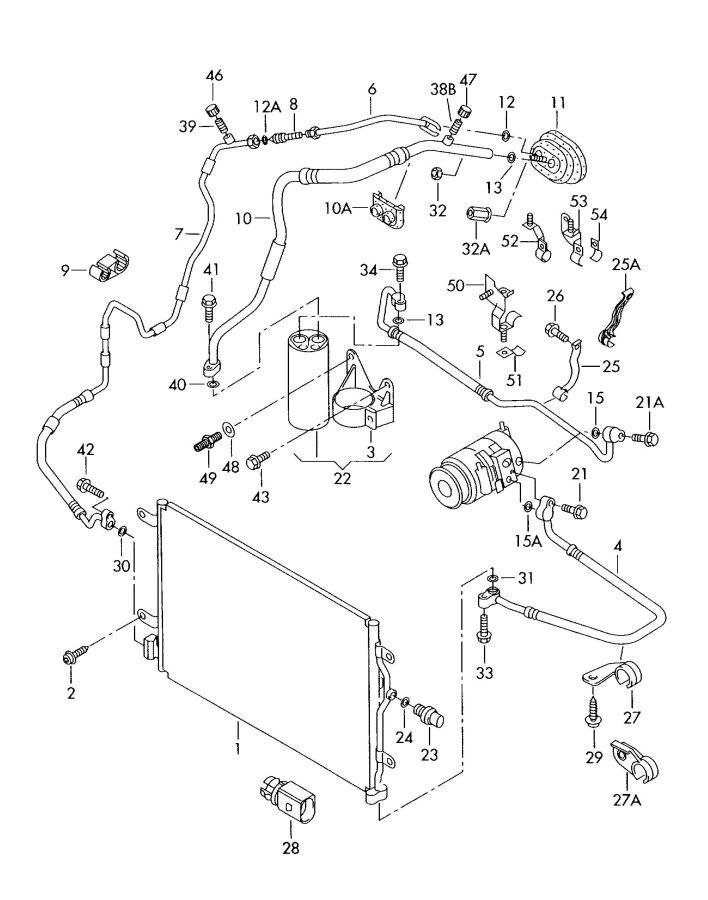 Audi A4 Avant Air conditioner hose (fluid container