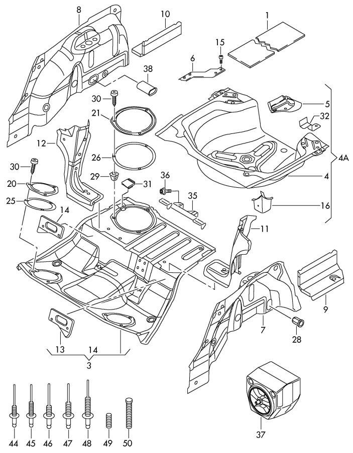 2002 Audi A4 Quattro Avant Wheelhouse protector. WHEEL HOUSING LINER. WHEEL HOUSE LINER. LINER