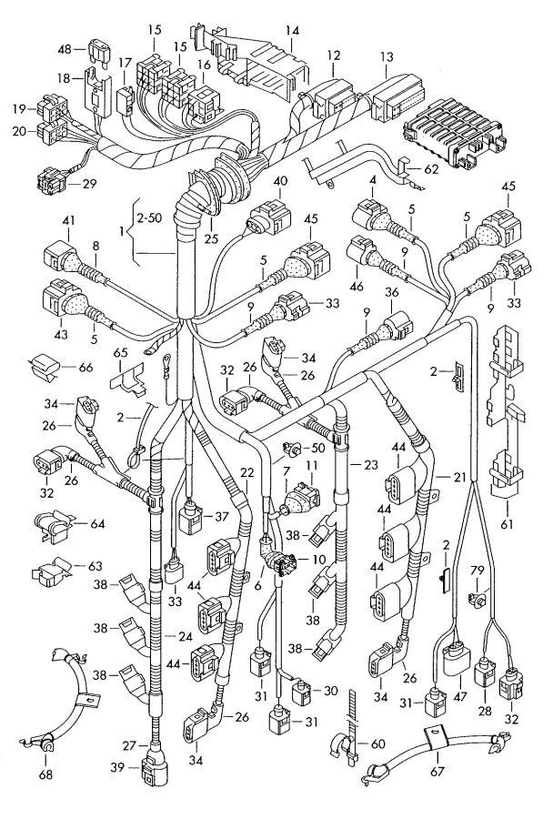 2005 Audi A4 Connecting piece camshaft adjuster unit compl
