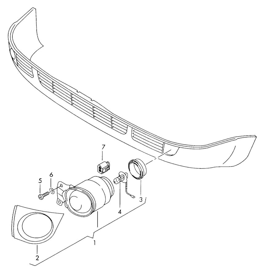 2003 Audi RS6 Headlight washer system harness for