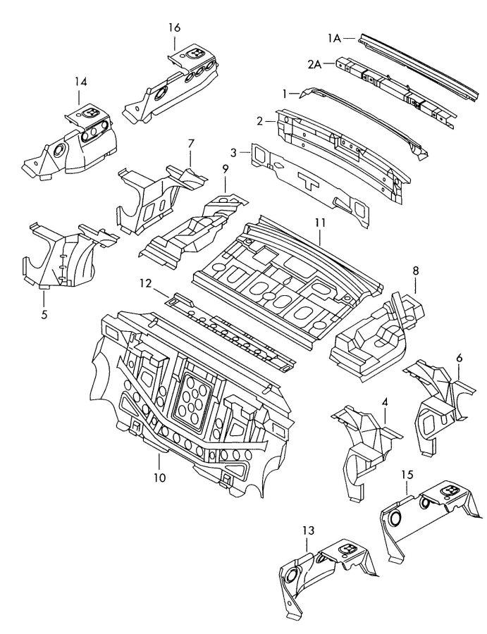 2002 Audi A6 Quattro Reinforcement rear apron. REAR PANEL