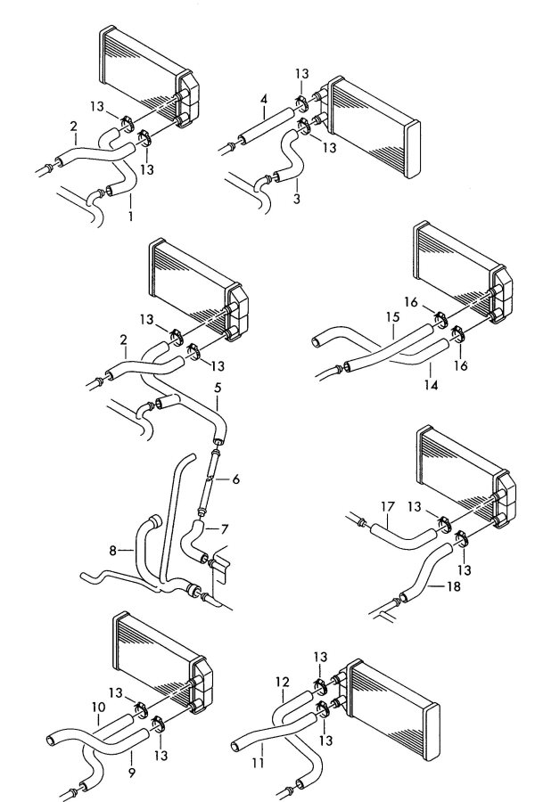 Audi S6 Water hose (flange > heat exchanger). APB