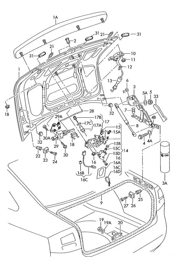 2002 Audi A6 Motor for adjustment for central locking