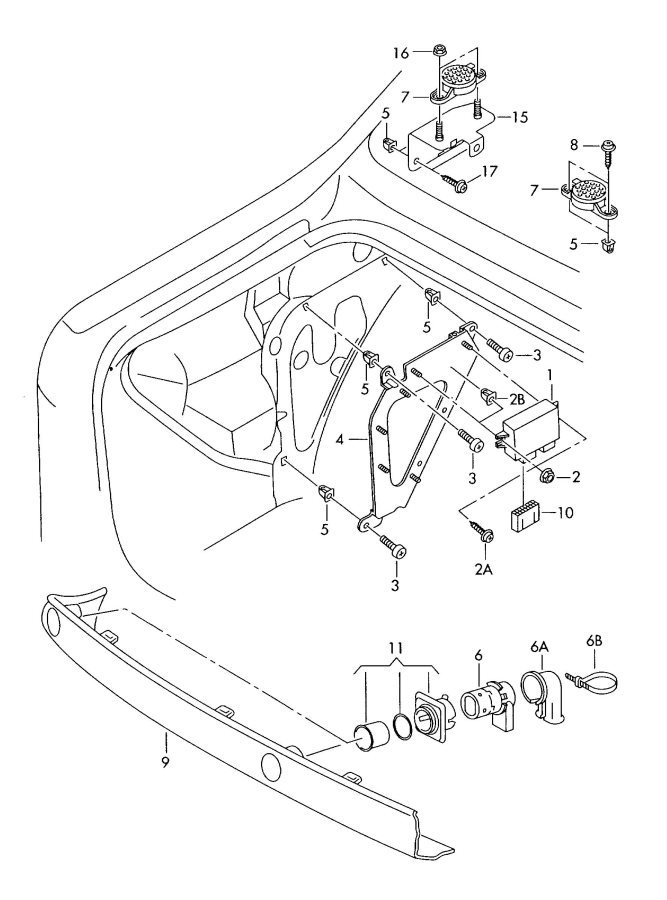 2001 Audi A6 Quattro 1 set of attachment parts for