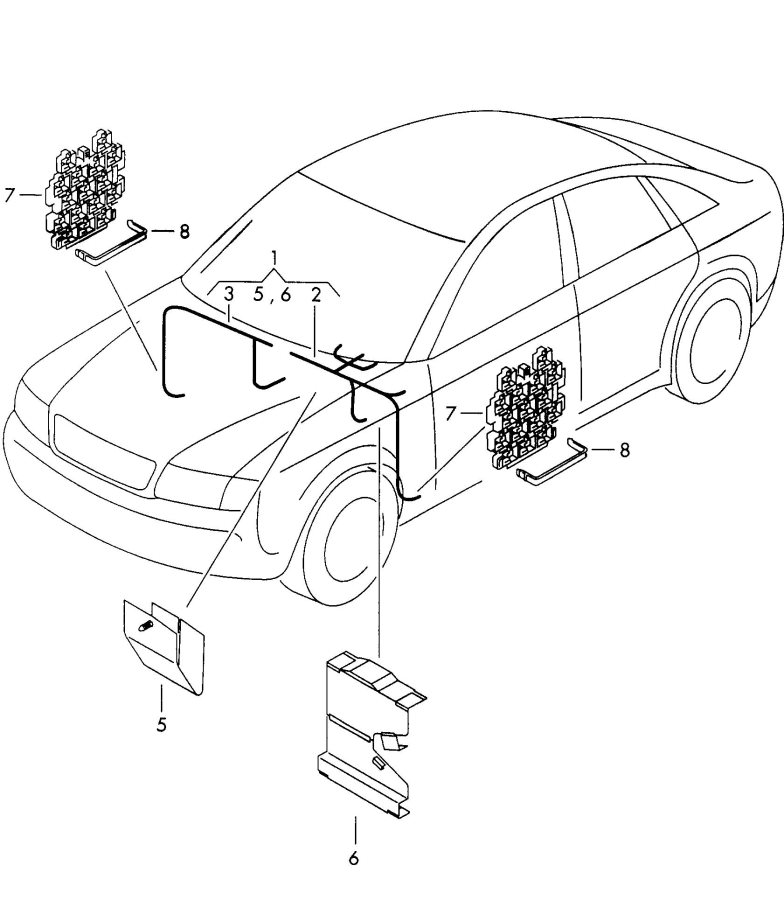 2002 Audi A6 For vehicles with elect. Wiring conduit
