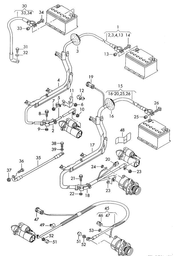 2002 Audi A6 Quattro Allroad Spring contact battery
