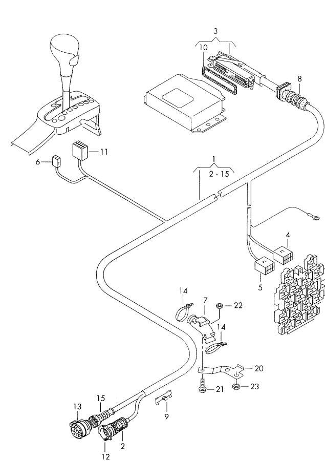 2002 Audi S6 Leak detection pump harness for engine