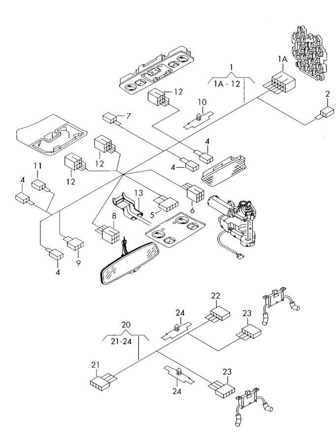 2002 Audi A6 Quattro Spring contact repair kit for solar