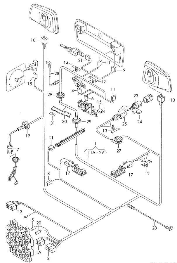 2003 Audi A6 Avant Fuel gauge harness for grommet wiring
