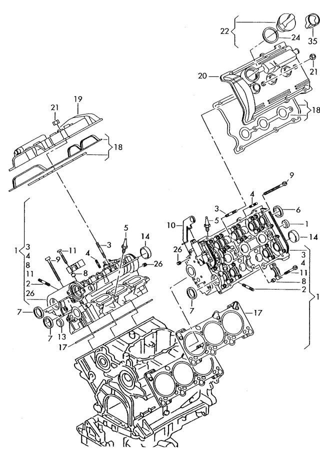 Audi A6 Radial shaft seal (shaft rotation: left). SEAL