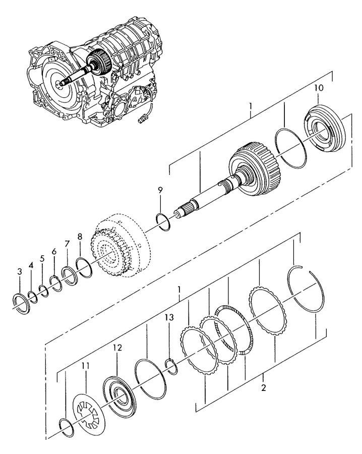 2002 Audi A4 Quattro Avant Set of discs comprising
