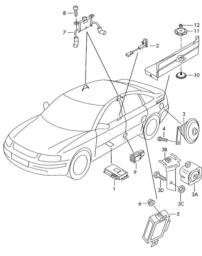 2001 Audi A6 Quattro Allroad Movement detector control