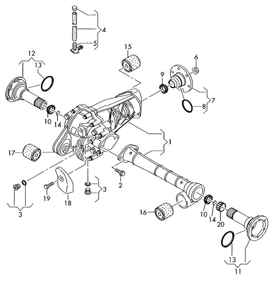 2009 Audi Q7 Bonded rubber mounting. JSM, JWW, JWV