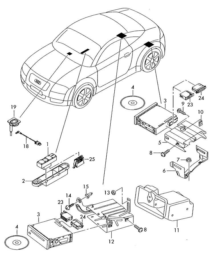 2001 Audi TT Roadster Cd changer bracket. Convertible