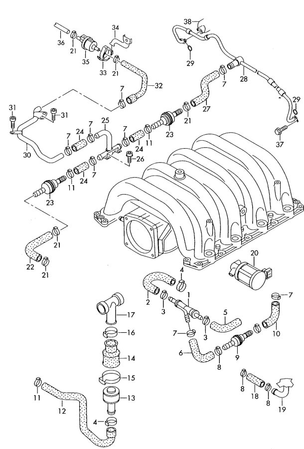 2002 Audi A6 For vehicles with check valve low pressure