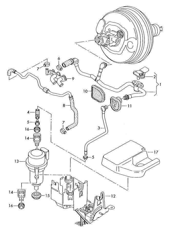 Audi Q7 Elec. Vacuum pump for brake servo. VACUM PUMP. AIR