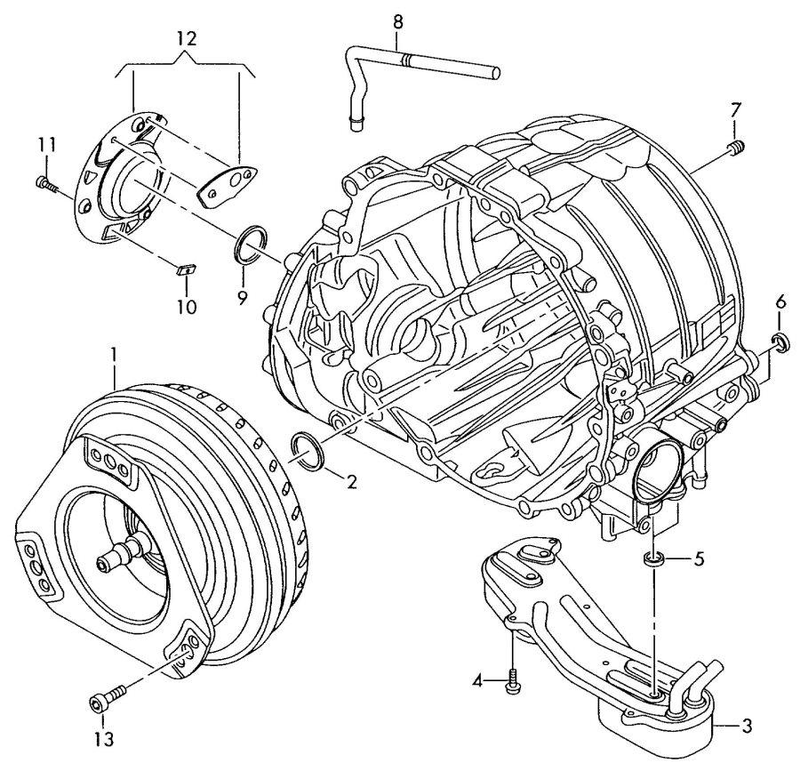 Audi A6 Quattro 6-AT 4.2L Torque converter. HWD, HLK, HKE