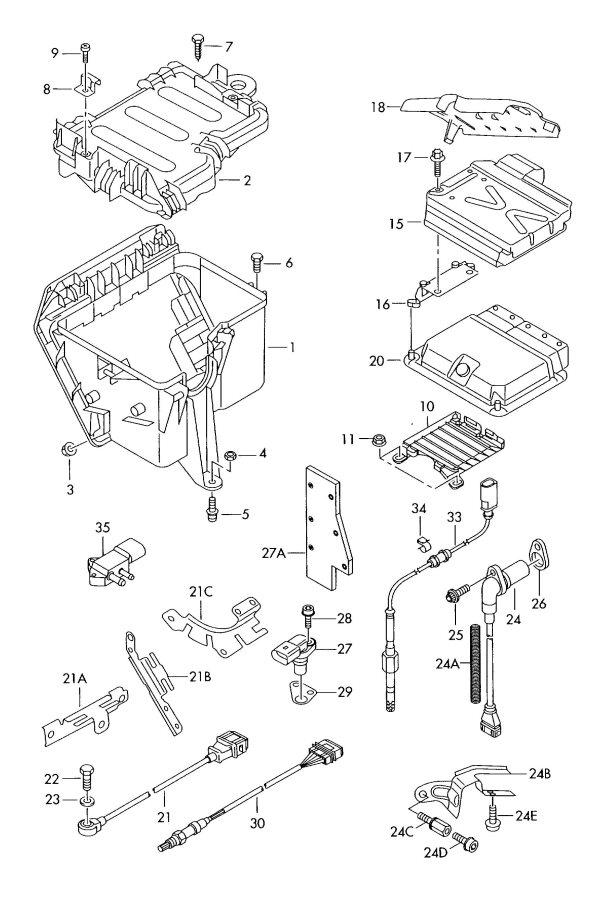 2009 Audi S8 Impulse sender. IMPULS SENDER. HALL SENDER