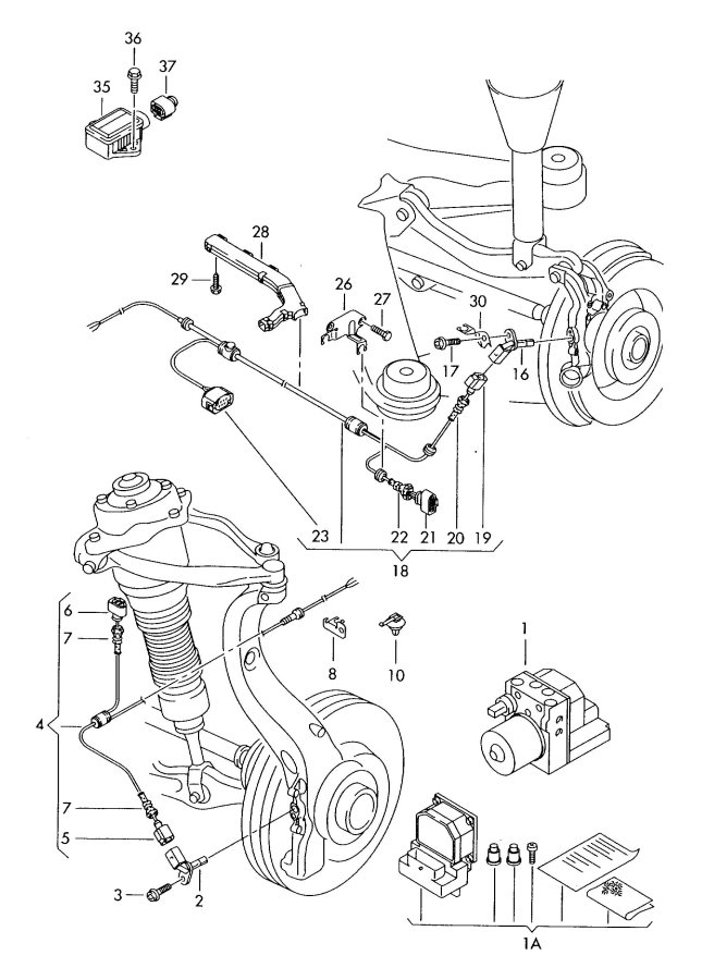 2007 Audi A8 Quattro Harness for speed sensor. SPEED