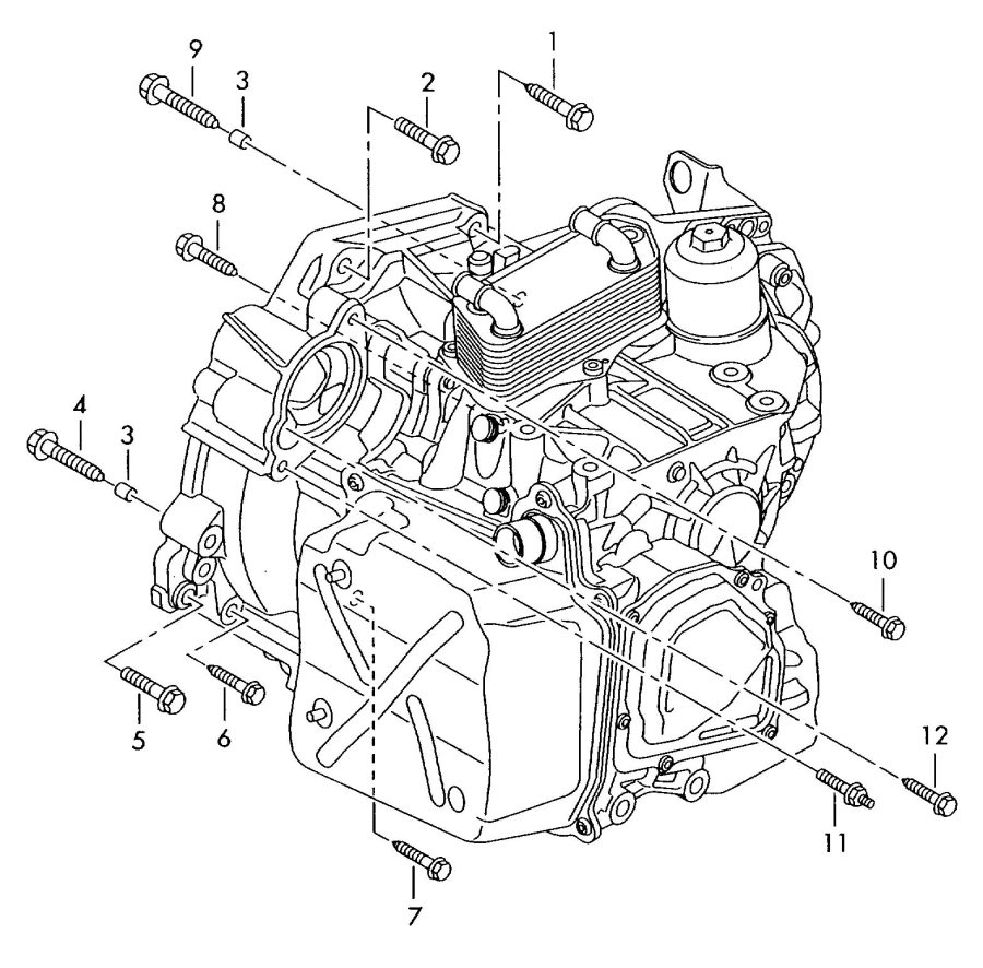 Audi A3 Mounting parts for engine and transmission 6-speed
