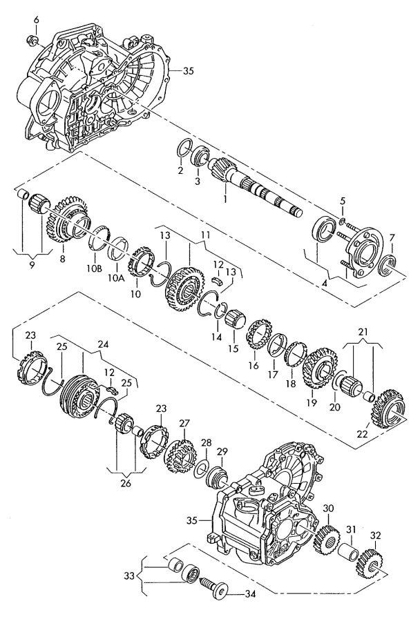 Audi TT Roadster Synchronizer ring. SYNCRO RING. GANG