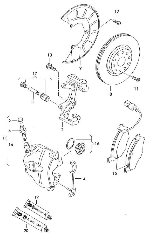2010 Audi TT Coupe Splash shield for brake disc. BRAKE