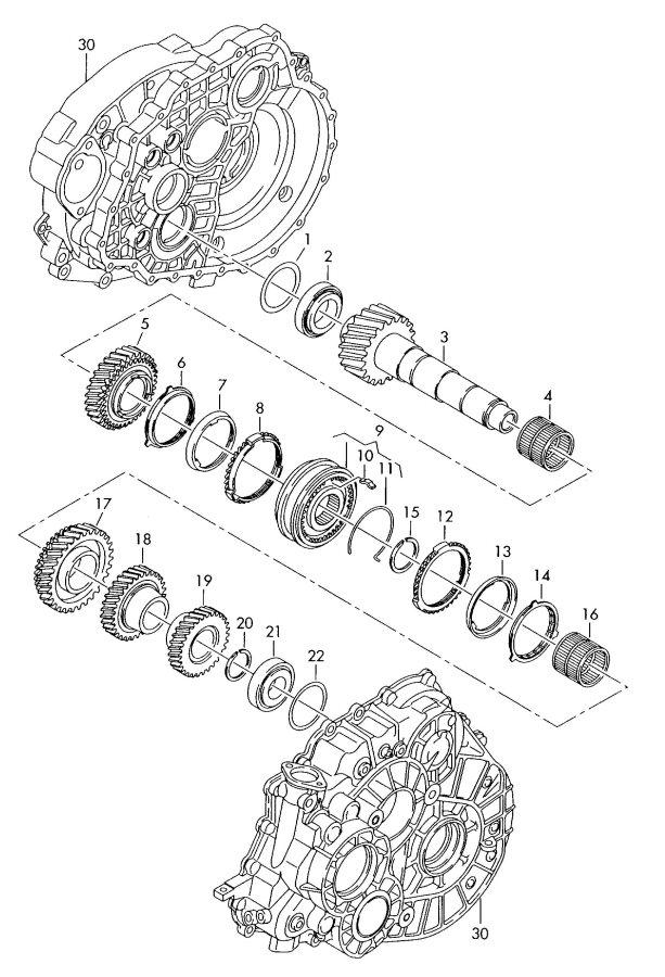 2003 Audi TT Coupe Taper roller bearing. Haldex
