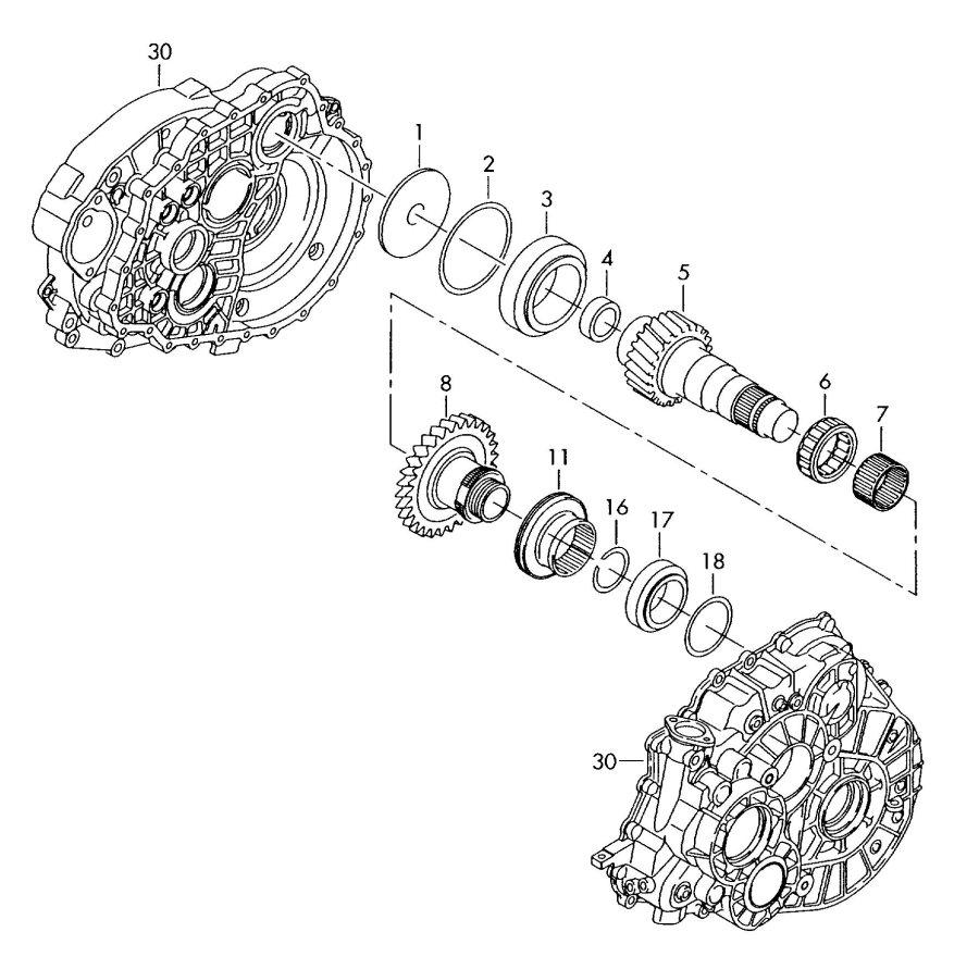 2006 Audi TT Coupe Taper roller bearing. Haldex
