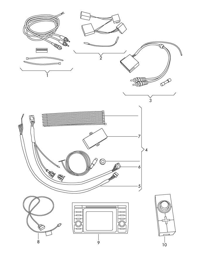 Audi A4 Quattro 2.0L iPOD® Adapter RNS-E, BNS-5.0. RNSE