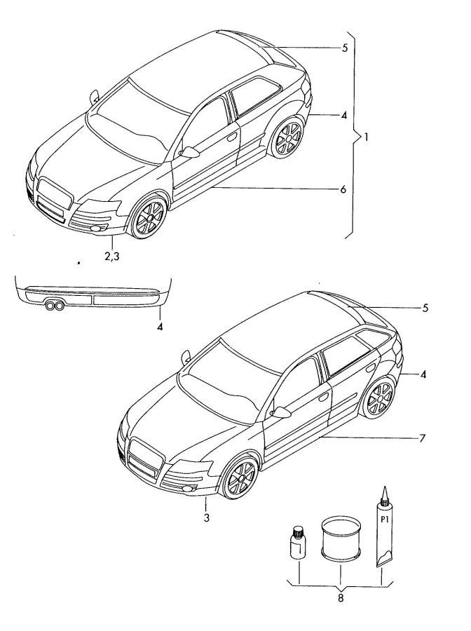 Audi Original accessories adhesive kit for aerodynamic