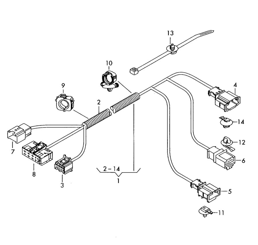 2011 Audi TT Roadster Connecting piece central wiring