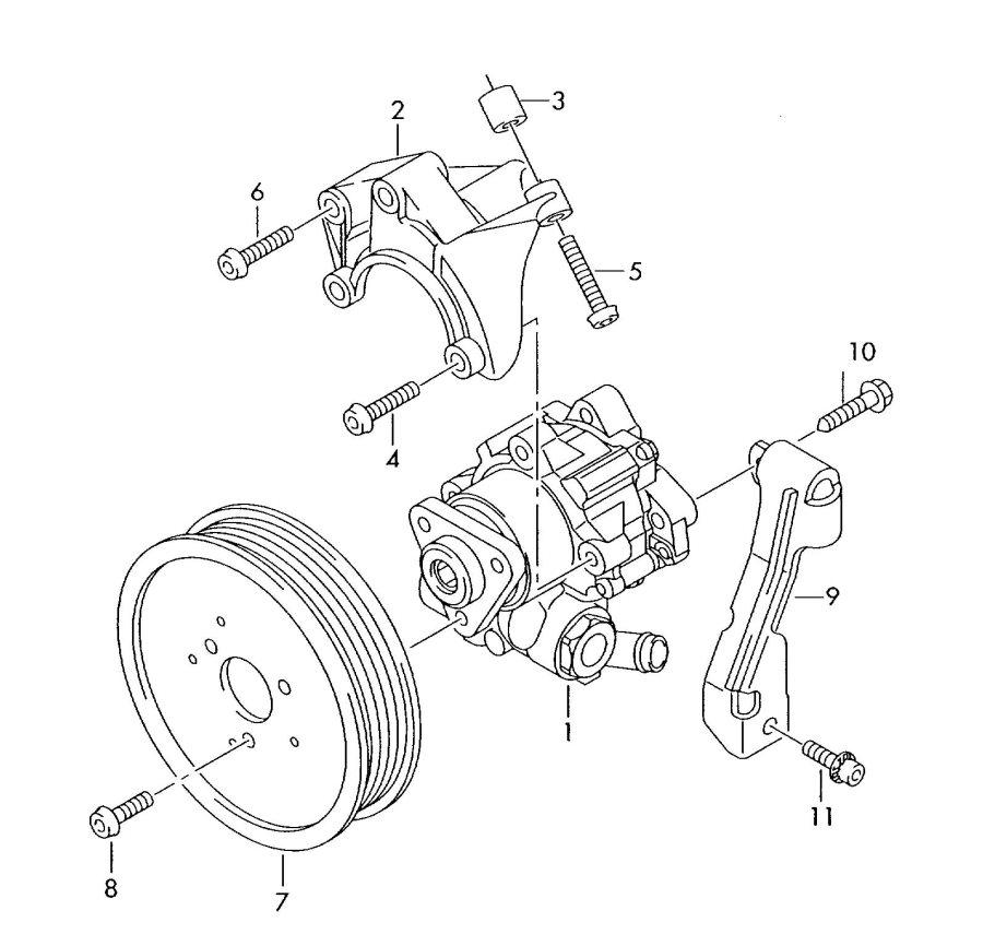 Audi A6 Retainer for vane pump. VANE PUMP BRACKET. BRACKET