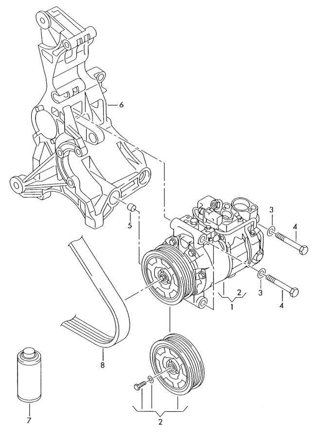 2010 Audi A4 Avant A/c compressor clutch pulley