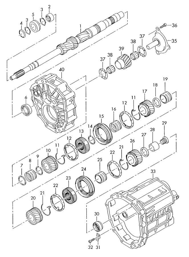 2008 Audi A4 Quattro Avant Synchronizing hub. SYNCRONIZING