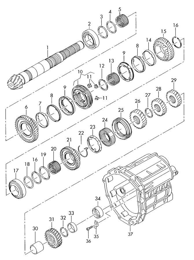 2008 Audi A4 Quattro Avant Taper roller bearing