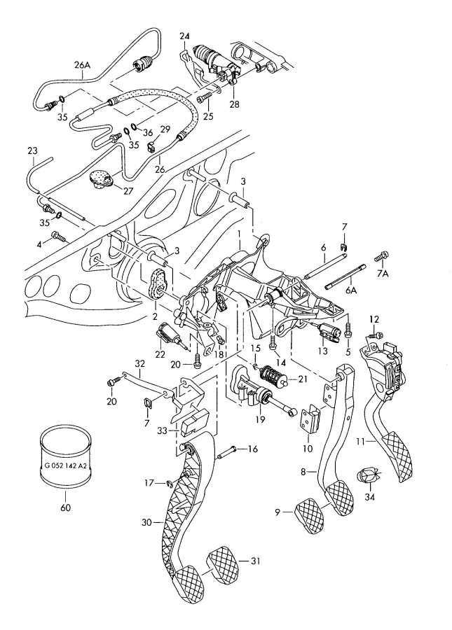 Audi RS4 Over-center spring marked with:. CGKA, CLAB, CGLD