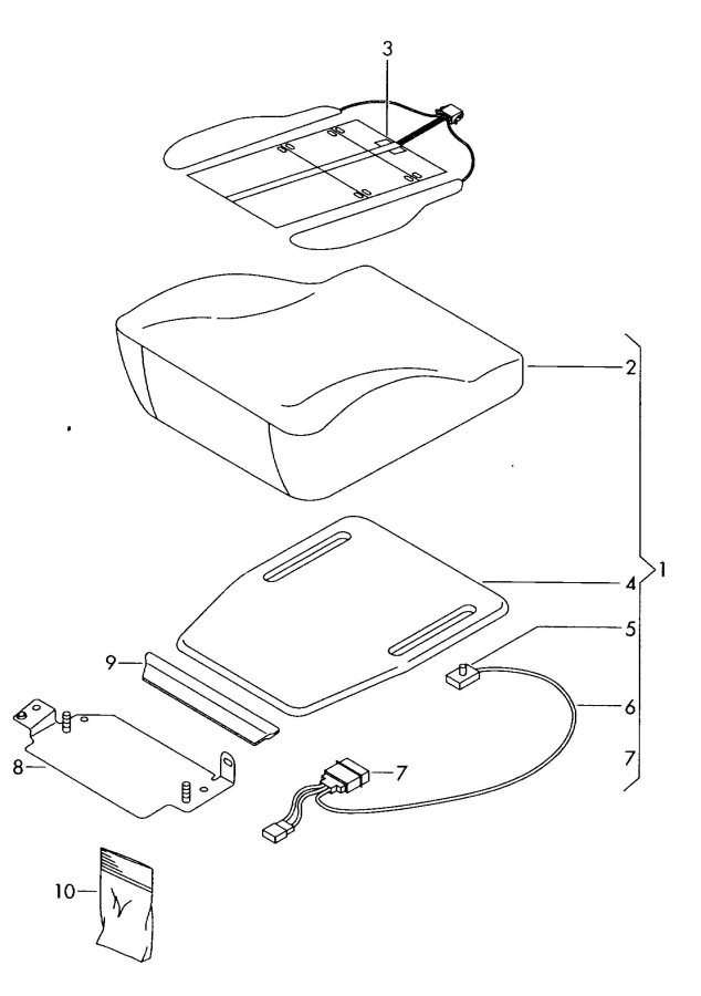 2010 Audi TT Coupe Fasteners comprising:. Recognition