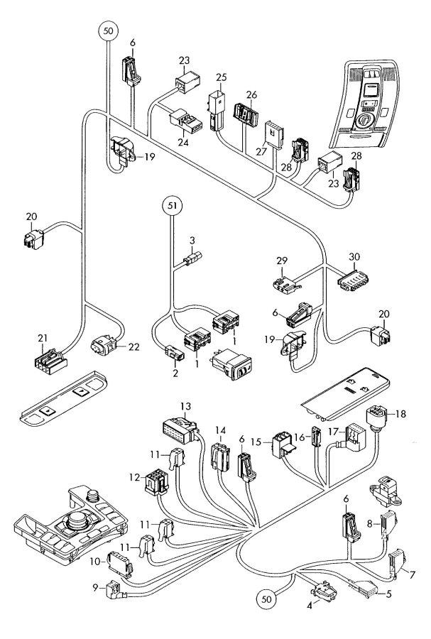 2008 Audi A6 Quattro Control unit for air condit
