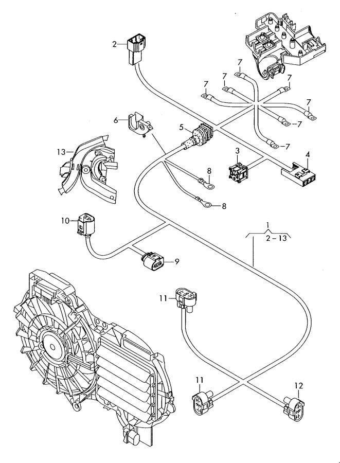 2008 Audi A6 Quattro Hot air fan glow plug fuse holder