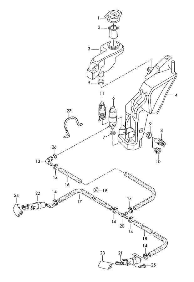 Audi Headlight washer system
