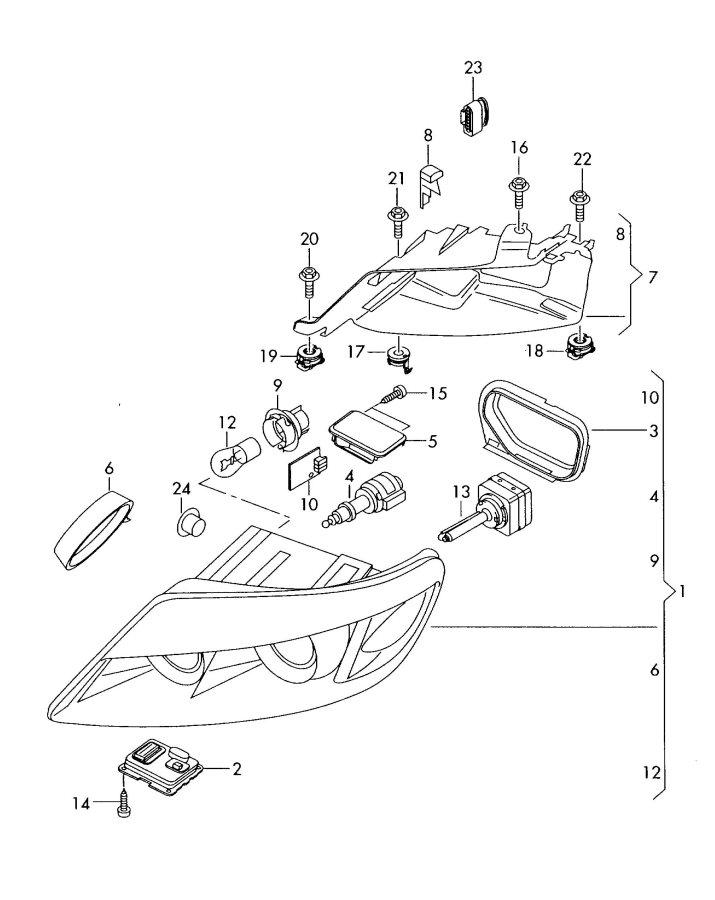 2010 Audi Q7 Ballast for gas discharge lamp. CONTROL UNIT