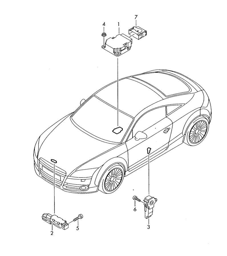 2007 Audi TT Roadster Sensor for longitudinal acceleration