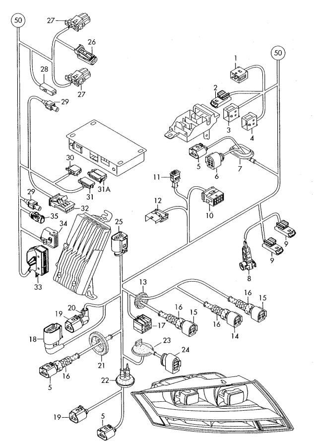 2011 Audi TT Roadster Belt force sensor airbag unit three