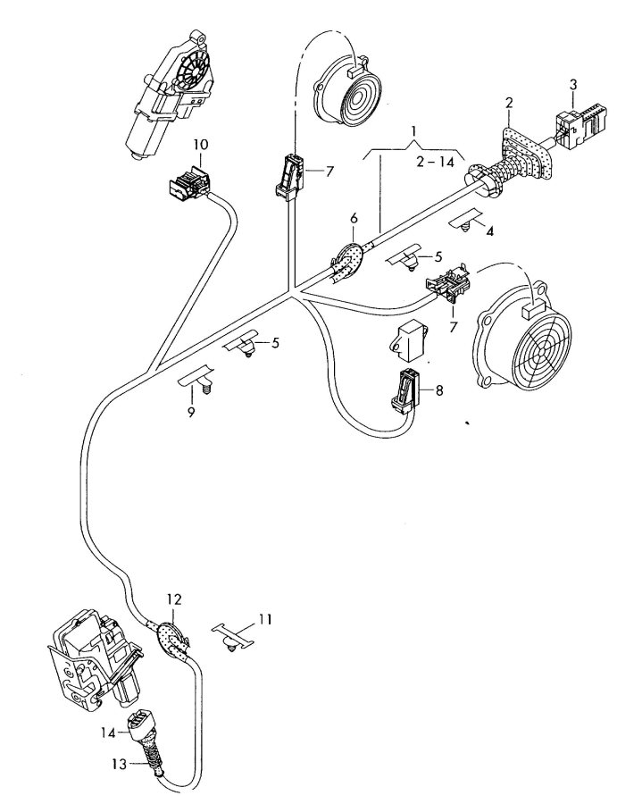2009 Audi TT Coupe Adapter-wiring harness for rear view