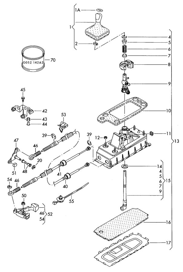 Service manual [2009 Audi A3 Gear Shift Mechanism