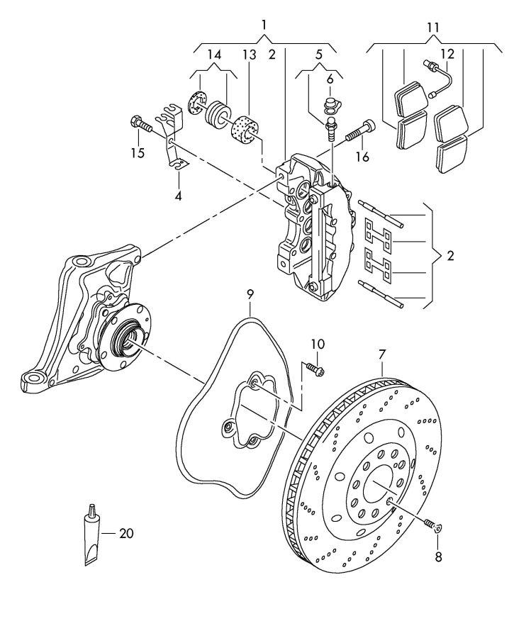 Audi RS4 Dust cap bleeder valve and. InclCap, CERAMIC