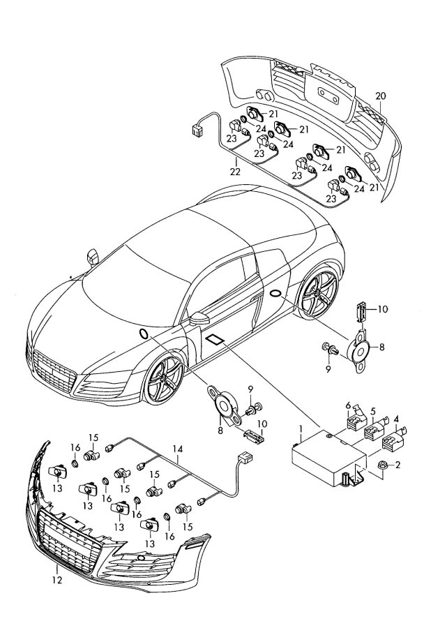 Audi Parking assist front and rear