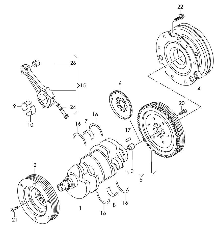 2008 Audi A5 Sportback Impulse rotor. CCFC, CCFA