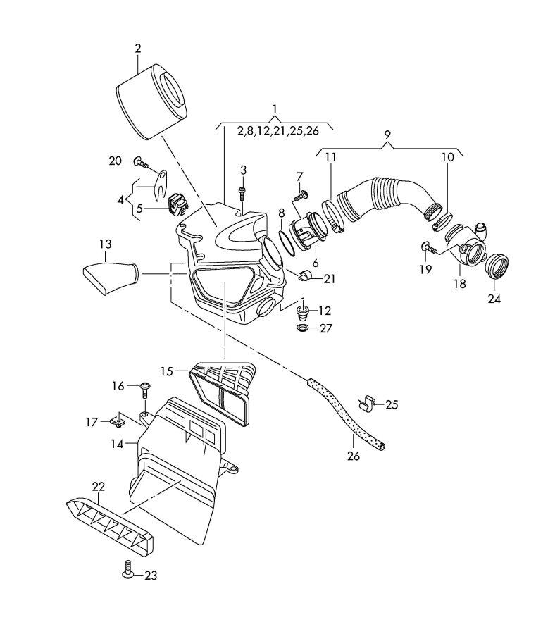 Audi Q5 Mass air flow sensor. VOLUME AIR FLOW. AIR MASS