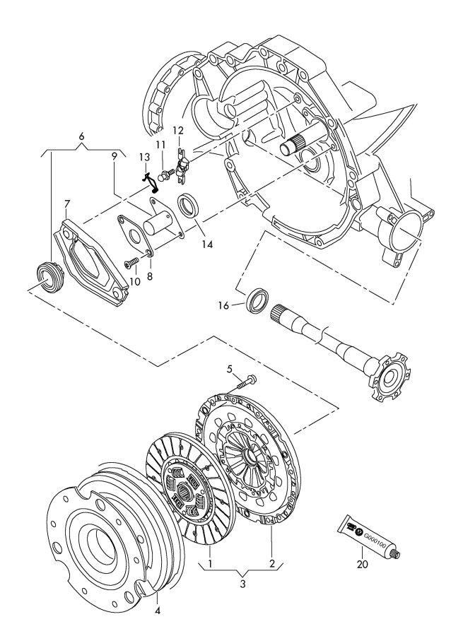 2010 Audi S5 Coupe Clutch disc. CLUTCH PLATE. CLUTCH PLT